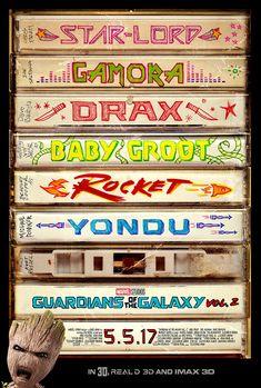 Genial el nuevo poster de Guardianes de la Galaxia Vol.2 // Great new poster for Guardians of the Galaxy Vol.2