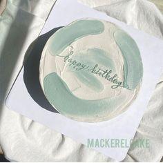 Pretty Birthday Cakes, Pretty Cakes, Beautiful Cakes, Happy Birthday Cake Topper, Birthday Cake Decorating, Amazing Cakes, Simple Cake Designs, Simple Cakes, Simple Birthday Cake Designs