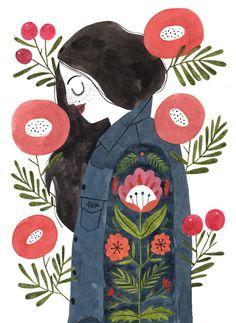 Hippie Girl - A4