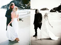 boho destination beach wedding