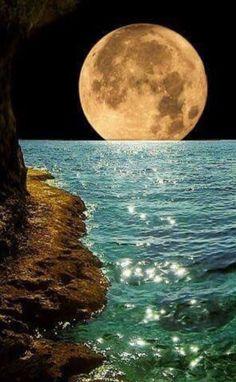 Swimming moon