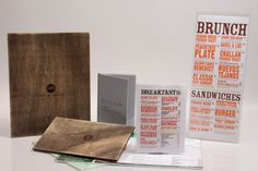 Custom menu sleeves and folders - Morgan Chaney
