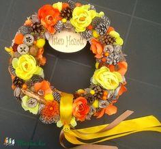 """""""Napsugár"""" tavaszi-nyári-őszi kopogtató (27 cm) (pinkrose) - Meska.hu"""