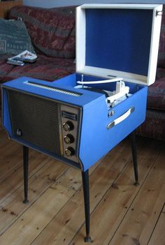 Tocador de discos vintage retro 1960s