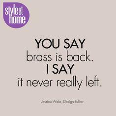 Brass is back!