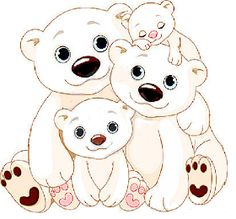 Mother And Baby Bear Cartoon Clip Art Images.All Cartoon Mother And Baby Bear Images Are On A Transparent Background. Bear Clipart, Bear Vector, Polar Bear Cartoon, Cute Cartoon, Polar Bears, Cartoon Pics, Baby Animals, Cute Animals, Inkscape Tutorials