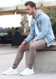 Young Urban Male! Men's Casual Street Styles. Very nicely put together. Jacket from Zara and Pants from H&M.