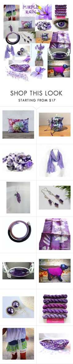 """""""Purple Rain"""" by anna-recycle ❤ liked on Polyvore featuring Rustico, modern, rustic and vintage"""
