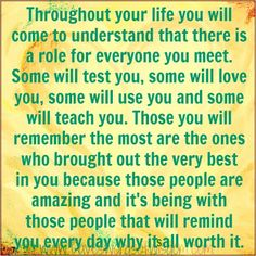 Every person comes into your life for a reason!!
