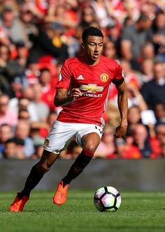 Jesse Lingard of Manchester United in action during the Premier League match between Manchester United and Stoke City at Old Trafford on October 2, 2016 in Manchester, England.