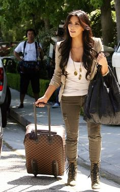 Sexy cargo pants and blazer outfit