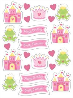 Fairy Tale Princess Sticker Sheets (4) : Have fun with these cute stickers! Castle Fun Sticker sheets have fairy tale themed designs on each sheet. Price is for 4 sticker sheets.