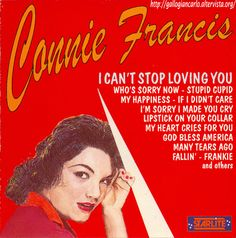 """fotografie e altro...: Connie Francis - """"I Can't Stop Loving You"""" CD EAN ..."""
