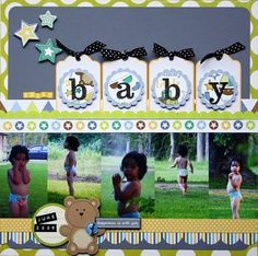 """Sweet """"Baby"""" Scrapping Page...Scrapbooking Ideas by cassandra.  Love this!"""