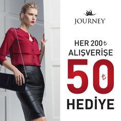 Journey ile sezonun yeniliklerini keşfedin ! Her 200 TL alışverişinize anında 50 TL indirim fırsatını kaçırmayın !