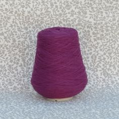 Composite yarn with wool and acrylic suitable for a wide range of projects at a very affordable price. Euros per cone ( ∴ Euros per Crochet Yarn, Knitting Yarn, Composition, Coin Purse, Wool, Purple, Create, Projects, Beautiful