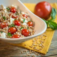 Farro Caprese Salad...a great spring side dish.