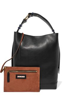Marni - Halo Pod Two-tone Leather Tote - Black