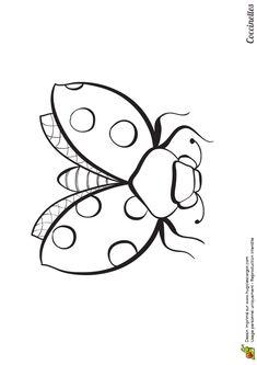 Coloriage d 39 un dessin d 39 une abeille en train de butiner - Coloriage d un papillon ...