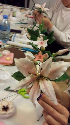 Bouquet 4 step corso con gum paste
