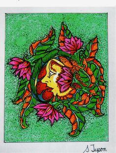 sun face by SyTyson at artbreak.com
