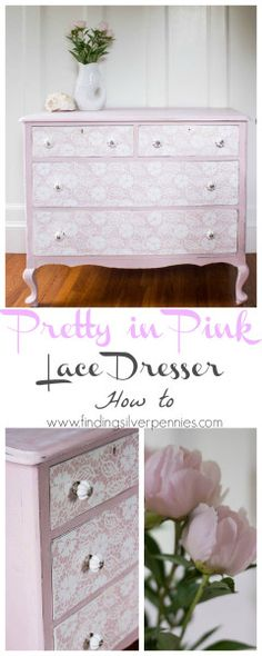 Lace Dresser How To by Finding Silver Pennies #sponsored