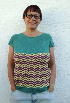 Ravelry: Summer Top ZigZag pattern by Claudia Finlay