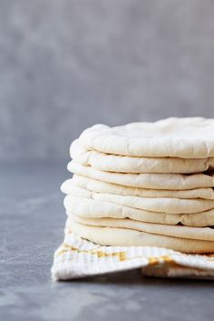 Charred Feta with Homemade Pita Bread - The Candid Appetite Homemade Pita Bread, Baking Stone, Daily Bread, Feta, Food To Make, Delish, Good Food, Food And Drink, Cooking Recipes