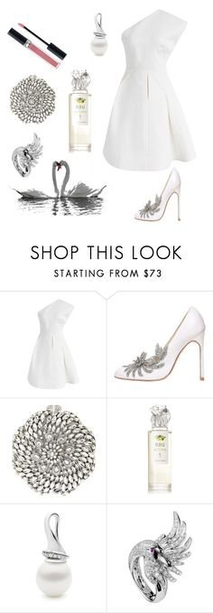 """Untitled #662"" by elizabeth-buttery on Polyvore featuring Chicwish, Manolo Blahnik, Natasha, Sisley, Boucheron and Christian Dior"