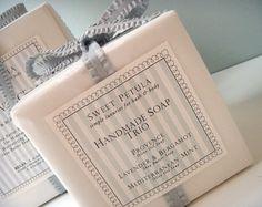 Wedding favors, spa favors Provence~French Lavender Mediterranean Mint~Fresh Mint & Rosemary Lavender & Bergamot~Gentle Shea Butter Lavender Soap