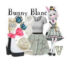 Bunny Blanc (Ever After High) by fabfandoms on Polyvore featuring J.TOMSON, Dorothy Perkins, Office, Betsey Johnson, Charlotte Russe and H&M