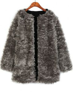 Luxurious Faux Fur Coat OASAP.com