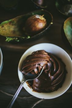 Chocolate Avocado Mousse.
