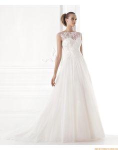 2015 A-linie Schöne Aktuelle Brautkleider aus Softnetz mit Applikation