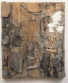 Joan Roberts Garcia Texture Painting, Texture Art, Collage Art, Collages, Textiles Sketchbook, Found Object Art, Textile Fiber Art, A Level Art, Environment Concept Art