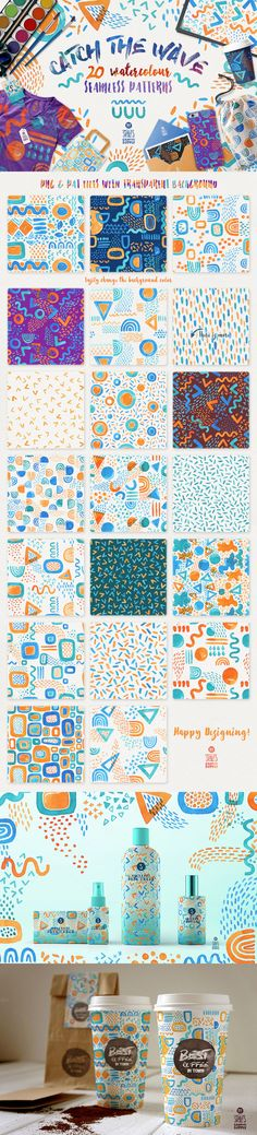 Catch the Wave, Seamless #Patterns