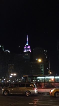 Empire State Building in spring