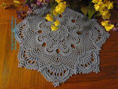 Royal Crown Crochet Doily Pattern (.PDF) by Patricia Kristoffersen; Home Decor; Victorian Decor; Thread Art