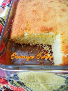 Orange Cake made with fresh orange juice, from scratch! #orangecake #cakerecipes #orange