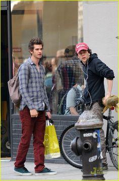 Andrew Garfield with Jesse Eisenberg