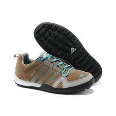 huge selection of 143d1 0c084 Genial Adidas Daroga Two 11 Leder Frauen Lichtbraun Grau Blau Schuhe Online   Großhandel Adidas Daroga