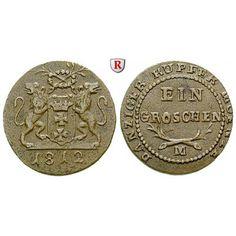 Danzig, Stadt, Freie Stadt, Groschen 1812, ss: Freie Stadt 1807-1814. Kupfer-Groschen 20 mm 1812. AKS 1; sehr schön… #coins #numismatics