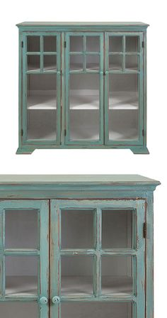 Breathe new life into a beloved country-chic or vintage-inspired living space with this stunning wooden cabinet. Perfect for storing china or displaying decorative additions, this Caridee Cabinet featu...  Find the Caridee Cabinet, as seen in the Guest-Ready Home: Rustic Farmhouse Collection at http://dotandbo.com/collections/styleyourseason-guest-ready-home-rustic-farmhouse?utm_source=pinterest&utm_medium=organic&db_sku=114540