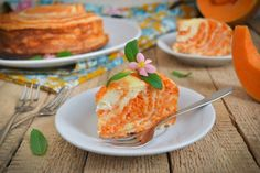 Marble pumpkin and cottage cheese casserole Baby Food Recipes, Cooking Recipes, Russian Cakes, Pumpkin Squash, Sweet Bakery, Sweet Pastries, Healthy Dishes, Cheesecake Recipes, Food Hacks