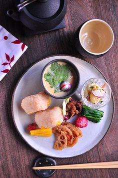 銀杏茶飯と茶碗蒸しのワンプレート