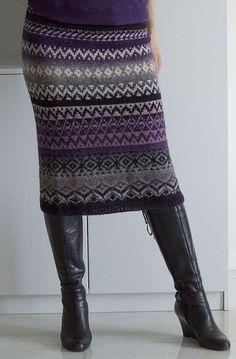 Knit Skirt, Knit Dress, Knitting Machine Patterns, Fair Isle Knitting, Fitted Skirt, Crochet Clothes, Knitting Projects, Knitwear, Knit Crochet