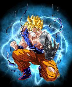 Future Gohan Legendary SSJ Mechanical Arm by on DeviantArt Dragon Ball Z, Mirai Gohan, Anime Dragon, Mechanical Arm, Epic Characters, Naruto Wallpaper, Sword Art Online, Swagg, Cool Drawings