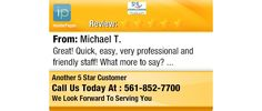 Great! Quick, easy, very professional and friendly staff! What more to say?
