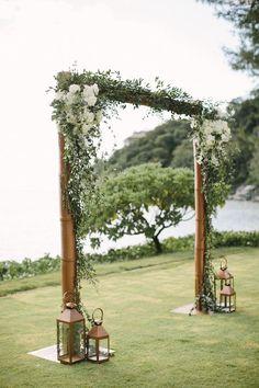 The Bridal Planner Thailand Wedding Arbor Decorations, Diy Wedding Arbor, Simple Wedding Arch, Wedding Gate, Wedding Arch Rustic, Wedding Centerpieces, Wedding Ideas, Wedding Aisles, Wedding Ceremony Arch