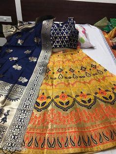 Lehengas Designer Banarasi Brocade Lehenga Fabric: Lehenga - Banarasi Brocade Blouse - Banarasi Brocade Dupatta - Banarasi Brocade Size: Lehenga (Waist Size) - Up To 40 in To 42 in ( Free Size ) Blouse (Bust Size)- Up To 36 in To 38 in ( Free Size ) Dupatta - 2.5 Mtr Flair - 3 Mtr Length: Lehenga - Up To  42 in Type: Lehenga - Semi Stitched Description: It Has 1 Piece Of Lehenga 1 Piece Of Padded Blouse & 1 Piece Of Dupatta   Work: Lehenga - Printed Blouse - Printed Dupatta - Printed Country of Origin: India Sizes Available: Un Stitched, Semi Stitched   Catalog Rating: ★4.4 (442)  Catalog Name: Free Mask Anshu Designer Banarasi Brocade Lehengas Vol 1 CatalogID_453510 C74-SC1005 Code: 3151-3281806-3093